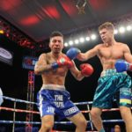 Banner Promotions' Taras Shelestyuk, Ruben Villa and Xolisani Ndongeni shine this in Corona, California